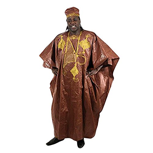 Embroidered Grand BouBou - Dark Brown by utopia africa