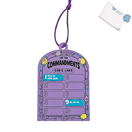 (Bargain World Paper ''Ten Commandments'' Magic Color Scratch Tablets (With Sticky Notes))