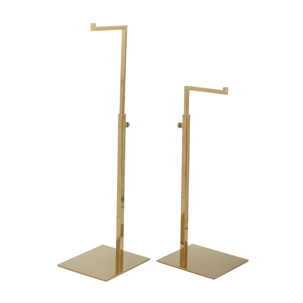 2 Pack Polished Gold Hanging Bag Handbag Rack Display Stand, Counter Purses Single Hook Adjustable Height Display Stand Rack by YIFU DISPLAY by YIFU DISPLAY