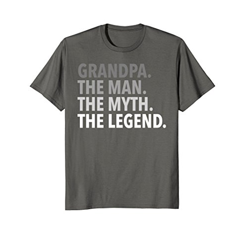 Mens Grandpa - The Man The Myth The Legend T Shirt Dad Papa XL Asphalt (Grandpa T-shirt)