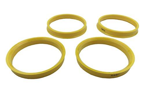 [해외]4 개 조각 - 허브 중심 링 - 72.6mm OD - 66.1mm ID - 황색 폴리 카본 허브 링/4 Pieces - Hub Centric Rings - 72.6mm OD to 66.1mm ID - Yellow P