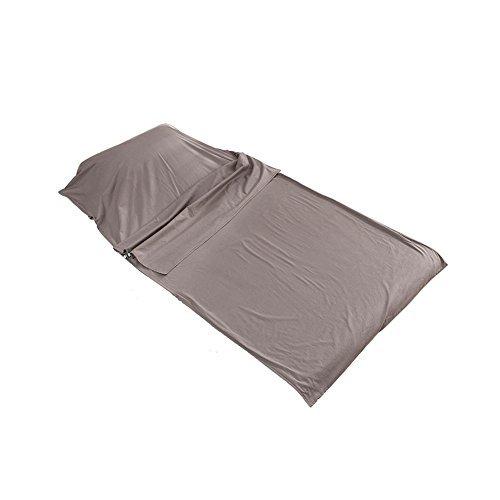 Outry Travel and Camping Sheet, Sleeping Bag Liner/Inner, Lightweight Summer Sleeping Bag - Gray (Material: 100% Cotton) - M£º45.3'x82.7'/115cmx210cm