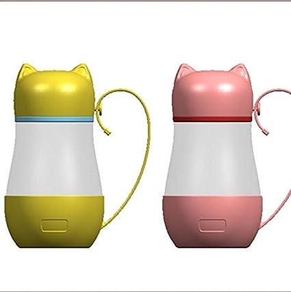 Creativo lindo gato de dibujos animados de cabeza de cristal Estudiantes de niños de la Copa