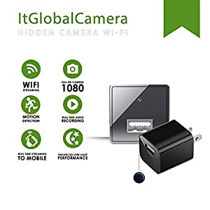 Hidden Camera USB Wall Charger Adapter Wireless - 1080P HD Video Recording & Motion Detection - Nanny Spy Cam for Professional Surveillance