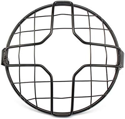 Etc. REFURBISHHOUSE Moto Phares Cache-Masque Masque Grille Carr/ée Croix Abat-Jour R/étro Phare Couverture de Maille pour