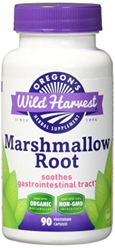 Oregon's Wild Harvest Marshmallow Organic Supplement, 90 Count vegetarian capsules, 850mg organic marshmallow root