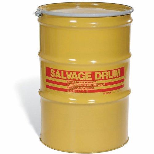 SKOLNIK Carbon Steel Open Head Salvage Drum, 85 gallons, Bolt Ring, 1.2mm Body Gauge (Pack of 1)