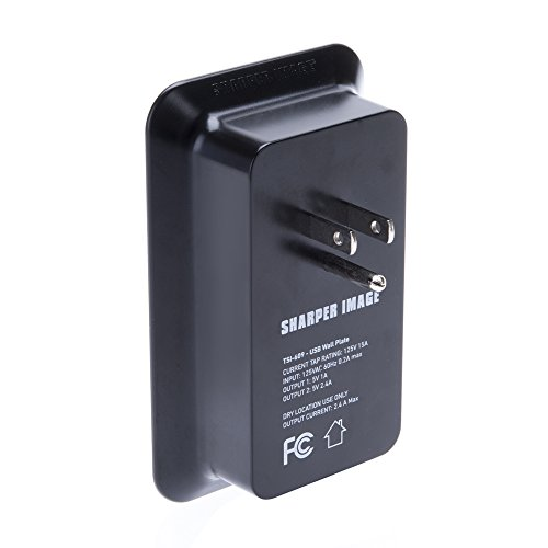 Sharper Image Usb Wall Plate Charger Retail Packaging Import