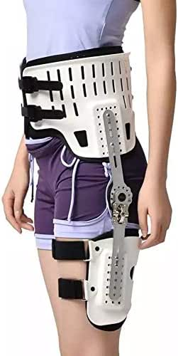 Hip Joint Dislocation Orthosis - Fixation Hinge Adjustable Waist Leg Brace, Hip Abduction Stent Dislocation Injury, Fixed Orthosis After Hip Replacement,White