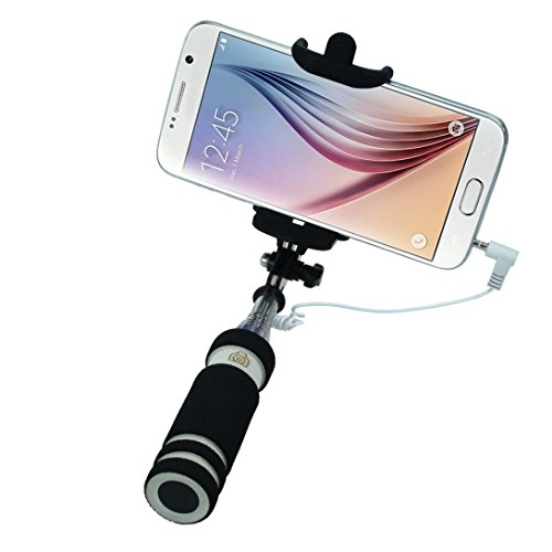 Wensltd Tripod Monopod Extendable Handheld Fold Self-portrait Stick (Black)