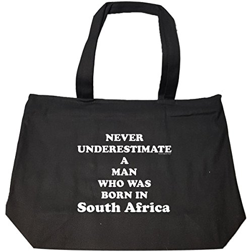 Never Underestimate A Man Born In South Africa - Tote Bag With Zip by Cool Apparel Shop