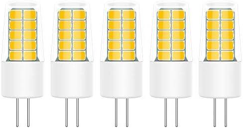 5X G4 LEDLampen 3W LED Lamp 20 SMD 2835LEDs Warmwit 3000K LED Super Helder 300LM LED Verlichting Geen Flikkering ACDC12V