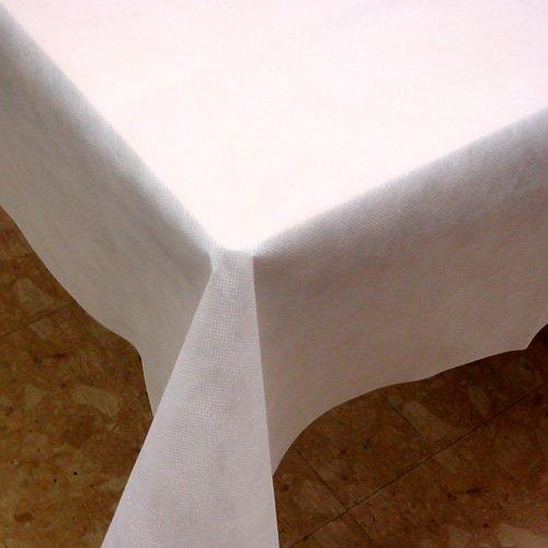 業務用使い捨てテーブルクロスとりぼん★150cm巾×100Mロール ホワイト   B06XDFDFQP