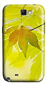 Samsung Galaxy Note II N7100 Cases & Covers - Green Maple Leaf Custom PC Soft Case Cover Protector for Samsung Galaxy Note II N7100