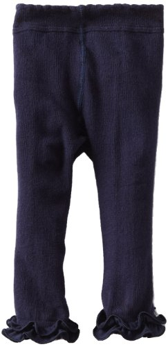 Jefferies Socks Baby Girls' Pima Ruffle Footless Tight, Navy, 18 24 Months