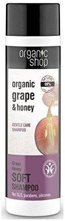 ORGANIC SHOP - Champú para Cabello Delicado, hecho aceite de Semilla de Uva y Miel - Un champú tonificante compuesto por ingredientes naturales - 280 ml