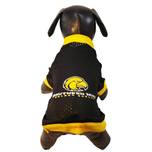 NCAA Southern Mississippi Golden Eagles Athletic Mesh Dog Jersey (Team Color, X-Small)