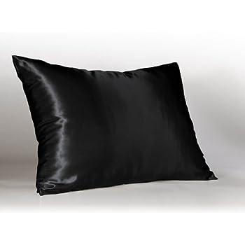 Black Satin Pillowcase Magnificent Amazon Creative 60 Pieces Of Hidden Zipper Satin Pillow Case