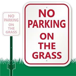 """Sin aparcamiento en la hierba Cartel, 12""""X 9"""""""