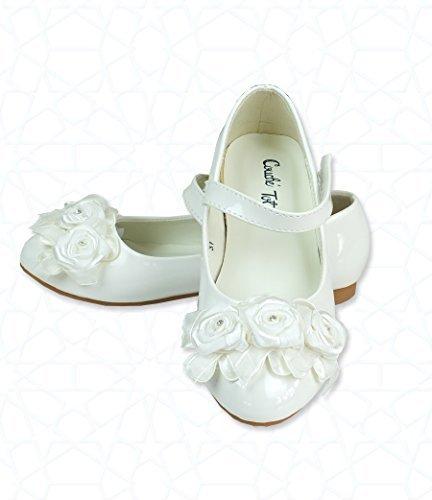 Fleur Ivoire formelle pour Occasion spéciale chaussures, chaussures de mariage, Communion
