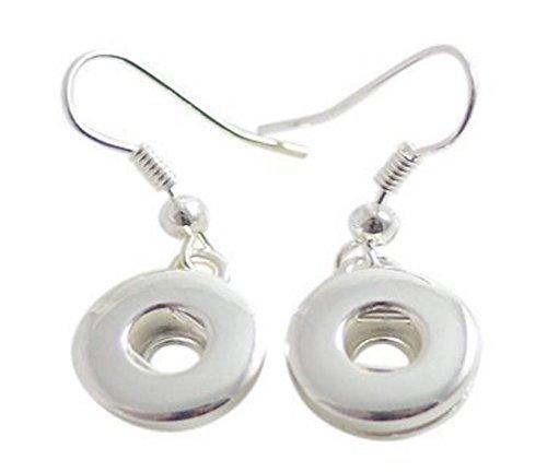 Interchangeable Mini 12mm Snap Jewelry Hook Earring by My Prime Gifts (Interchangeable Earring Beads)