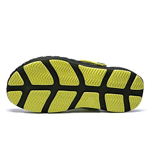 Jalea Sandalias 'S La Ejército Antideslizante Zapatos Confortable Casual ALIKEEYMen Transpirable De Verde Hollow TO8CqUqwz