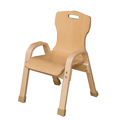 Bentwood Arm (Wood Designs 90801 Stacking Bentwood Plywood Chair, 8