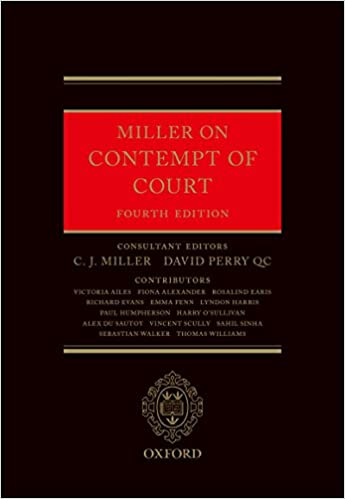 Miller On Contempt Of Court Kindle Edition By C J Miller