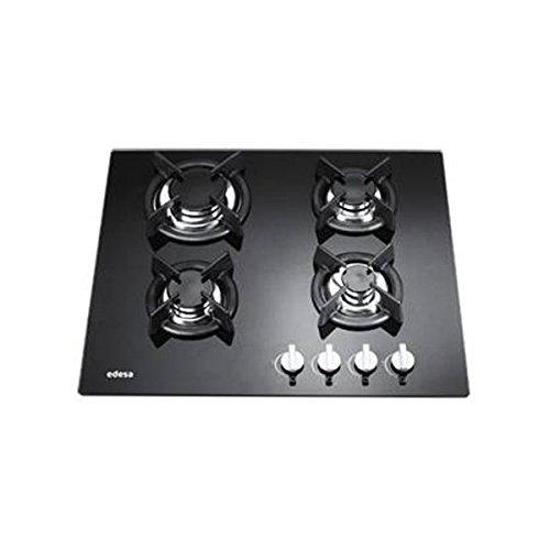 Edesa HOME-CI4GSA hobs Negro Integrado Encimera de gas - Placa (Negro, Integrado, Encimera de gas, Vidrio, 900 W, Alrededor)