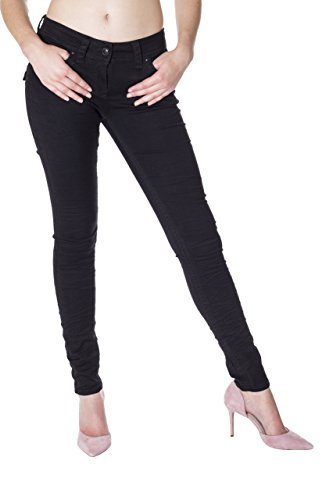 Monkey Donna Blue Unita Tinta Jeans Nero Skinny O1dwCqx7