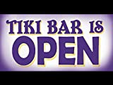 bn0536 Tiki Bar is OPEN Welcome Mobile Party Tropical Exotic Dance Banner Sign