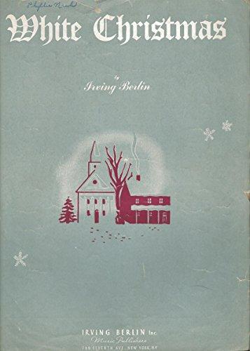 WHITE CHRISTMAS IRVING BERLIN 1942 SHEET MUSIC FOLDER 570
