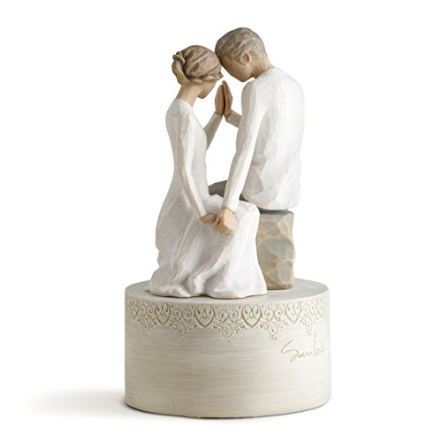 Willow Tree Around You Musical, sculpted hand-painted musical - Angel Figurine Music