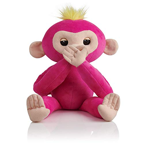 Interactive Hugs Bella (Pink) - Advanced Plush Baby Monkey Pet