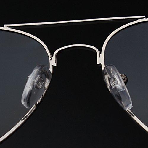 Retro Polarisées UV Eyewear Lunettes Protection LINNUO Hommes de Miroir Soleil Aviateur Femmes Lentille Argent Sunglasses fvWZUwq