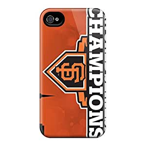 Durable Hard Cell-phone Case For Iphone 4/4s With Unique Design Lifelike San Francisco Giants Pattern AlissaDubois hjbrhga1544
