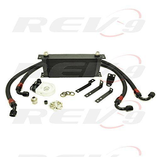 Rev9 AP1 / AP2 / 2000 2001 2002 2003 2004 2005 2006 2007 2008 2009 Honda S2000 19 Row Bolt On 19 ROW Oil Cooler Kit