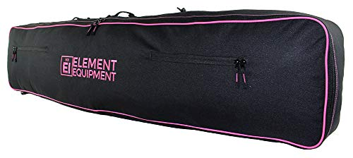 Element Equipment Snowboard Bag 148 with Shoulder Strap and Gear Pockets Black/Pink (Snowboard Bag Pink)