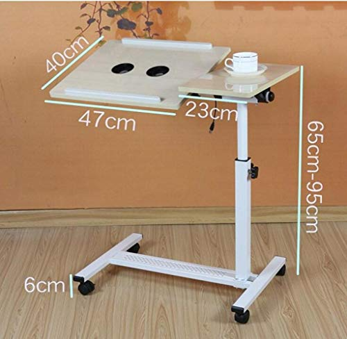 - CTO Wall Mount Laptop Table Sofa Overbed Table Adjustable Height Notebook Computer Stand Desk with Wheels Drop-Leaf Table,C,Table