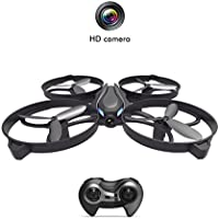 RC UFO Quadcopter Drone Helicopter with HD Camera Altitude Hold One-Key Return Headless Mode 2.4GHz 4 Channel 6 Axis Gyro Romote Control Drone