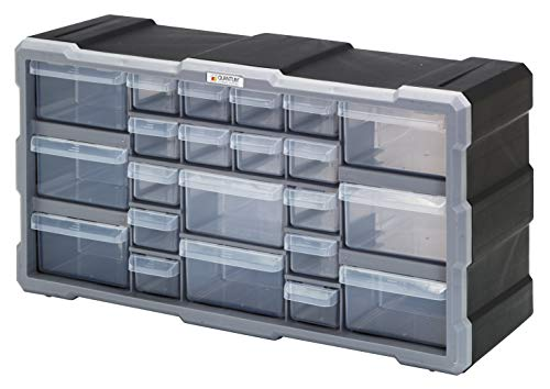 (Quantum Storage Systems PDC-22BK Clear Plastic Drawer Cabinet, 22)