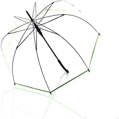 Doppler lange paraplu derby Hit lang AC transparantautomatischstabiel en windbestendigklokvorm