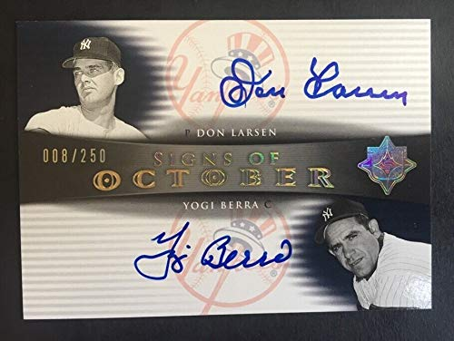 Yogi Berra & Don Larsen 2005 Ud Ultimate 1956 Perfect Game Autographed Signed Memorabilia 8/250 1/1 Auto - Certified Authentic