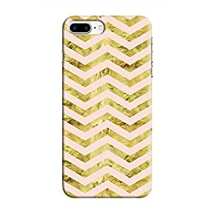 Cover It Up - Gold Pink Tri Stripes iPhone 7 Plus Hard case
