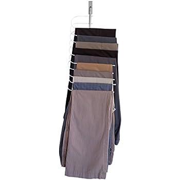 Amazon.com: Evelots Over The Door Cascading Pants Hanger