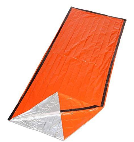 Tiemahun Emergency Survival Sleeping Bag Bivvy Sack Waterproof Lightweight Thermal Blanket Outdoor First Aid Kit Camping Hiking Gear Tools 523FS