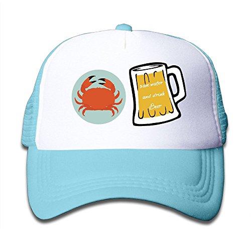 DNUPUP Kid's Crabs Beer Cartoon Adjustable Casual Cool Baseball Cap Mesh Hat Trucker Caps