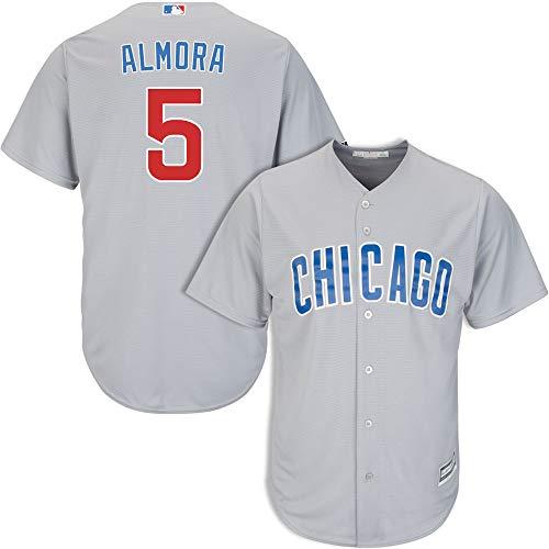 Men's #5 Albert Almora Jr. Chicago Cubs Road Jersey M Gray