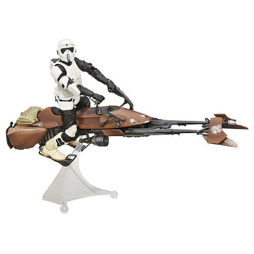 Star Wars The Black Series Speeder Bike Vehicle with Biker Scout Figure