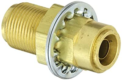 Eaton Weatherhead 1874 Brass CA360 D.O.T. Air Brake Tube Quick Connect Bulkhead Union